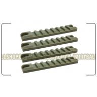 Plastic Rail Short - set of 4 (DE)