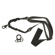 Bungee Sling single-point with mount set - black