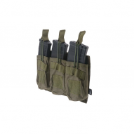 MILITARY Magazine pouch Open type 3-mags for  AK, olive