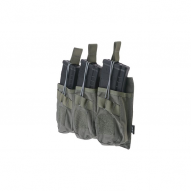 MILITARY Magazine pouch Open type 3-mags for AK, ranger green