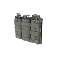MILITARY Magazine open pouch for 3 magazines AK/M4/G36, ranger green