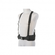 Tactical vests Molle tactical waist belt w/ suspenders, black