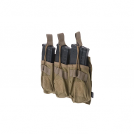 MILITARY Magazine pouch Open type 3-mags for AK, tan