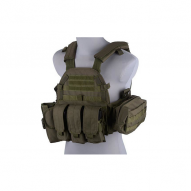 Tactical vests LBT 6094 type vest with pouches, olive
