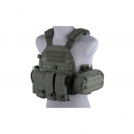 Tactical vests LBT 6094 type vest with pouches, ranger green