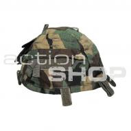 MFH Helmet Cover with Pocket, woodland