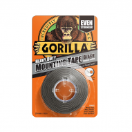 OUR SPECIALTIES Gorilla Heavy Duty Mounting Tape 25,4mm x 1,52m Black