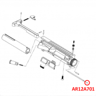 AR12A701 Tiberius T15 Dust Cover Pin Retainer