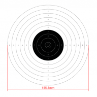 AIR GUNS 10m international air pistol shooting target, 50pcs