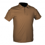 "Shirt tactical ""POLO"" Quickdry, dark tan"