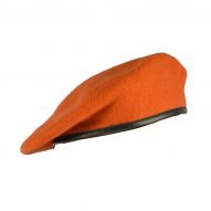 Headwear Czech Army Beret, Orange (used)
