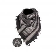 Headwear Shemagh Scarf Rifles, black/white
