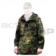 Jackets & Combat Shirts BW Field parka with hooded top, flecktarn, used