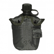 Water bottles and hydration bags US Plastic Bottle, OD green, 1 l, cover