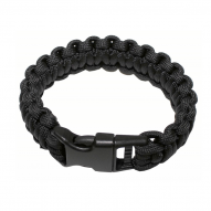 MILITARY Bracelet paracord, black