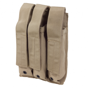 MOLLE 3x MP5 Magazine Pouch Tan Click to view the picture detail.
