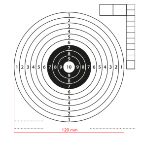Airgun mark 160P white center 100pcs Click to view the picture detail.