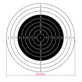 10m international air rifle shooting target, 50pcs Click to view the picture detail.