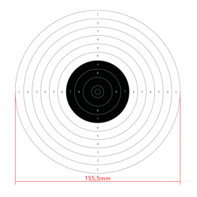 10m international air pistol shooting target, 50pcs Click to view the picture detail.