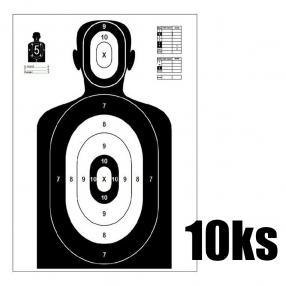 Shooting Target Silhouette 980x590 mm - 10pcs Click to view the picture detail.