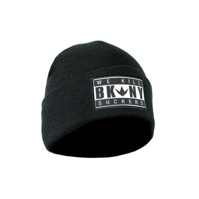 90223736e62 Beanie Bunkerkings BKNY Folded   Black